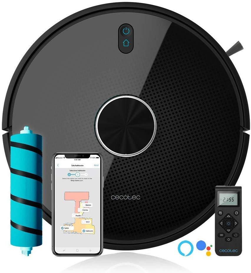 Cecotec Robot Aspirador Conga série 4090. 2700 Pa, Gestión y dición de Habitaciones, App con hasta 5 Mapas, Aspira, Barre, Frie