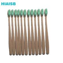 HIAISB Naturel Bamboo Toothbrush Soft Escova Bambu Environment Toot Brush for Adults