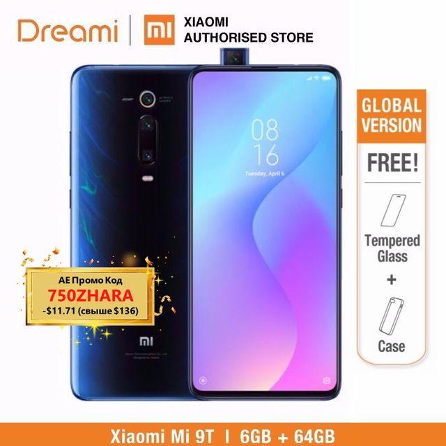 Глобальная версия Xiaomi Mi 9 T 64 гб rom 6 гб ram (абсолютно новая/запечатанная) mi9t 64 гб Мобильный смартфон, телефон, смартфон
