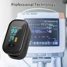 Spo2 dedo digital oxímetro de pulso oxímetro de dedo oled portátil oxímetro saturação de oxigênio no sangue monitor