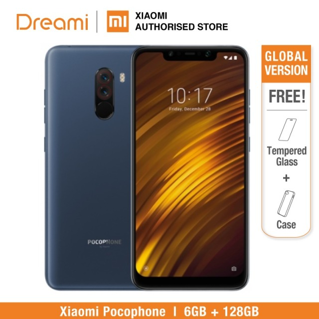$  Global Version Xiaomi Pocophone F1 128GB ROM 6GB RAM, EU VERSION (Brand New and Sealed)