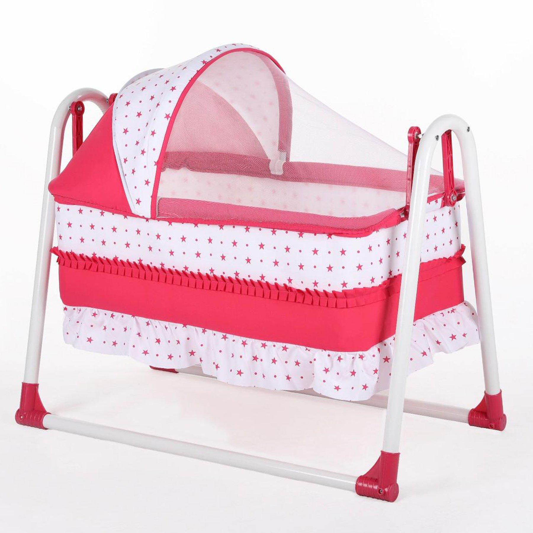 Bebegen Elite Portable Rocking Baby Crib Fuchsia
