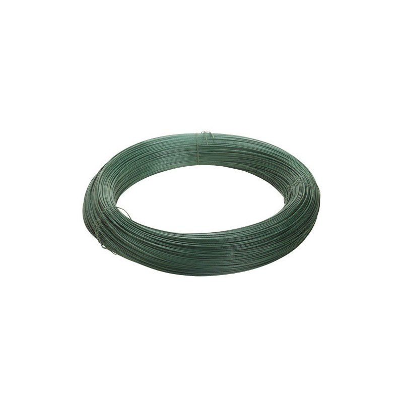 Plastic Coated Wire Green Roll 25Kg./N°17