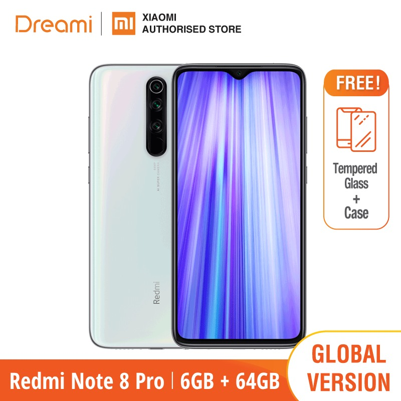 Global Version Xiaomi Redmi Note 8 PRO 64GB ROM 6GB RAM (Brand New / Sealed), note8 pro Smartphone Mobile