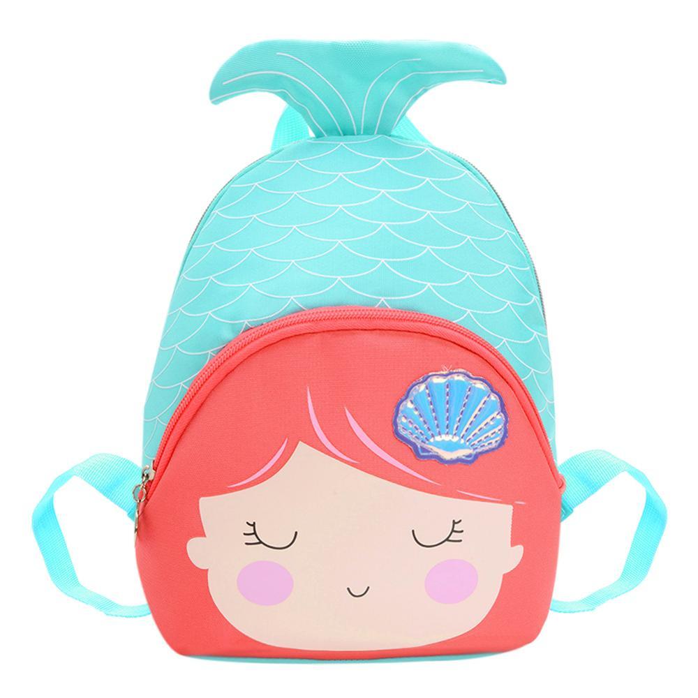 Cartoon Cute Children Backpack Fish Tail Rucksack Lovely Girls School Shoulder Bag Mochila Feminina Mujer Sac A Main Knapsack
