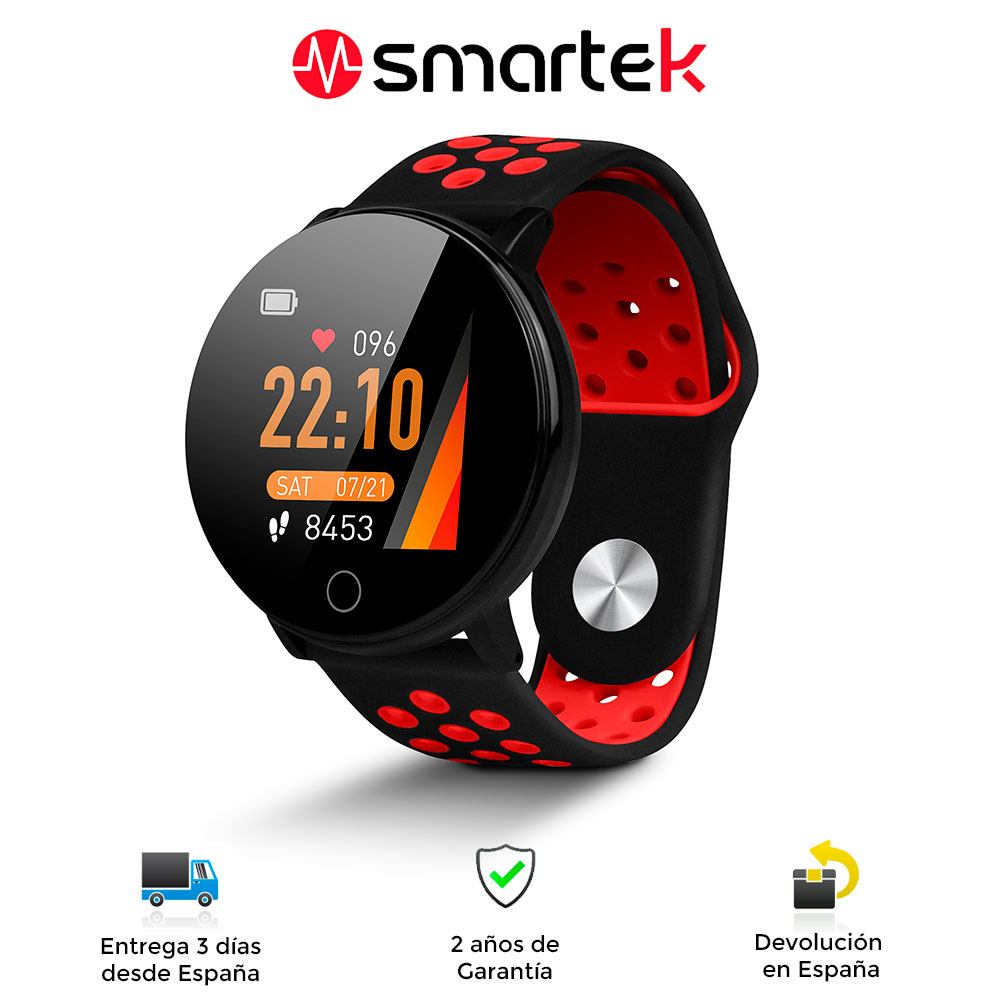 Smartwatch Smartek SW-590, Smart Watch Android And IOS, Podometro, Heart Rate, Blood Pressure, Counter Calorias