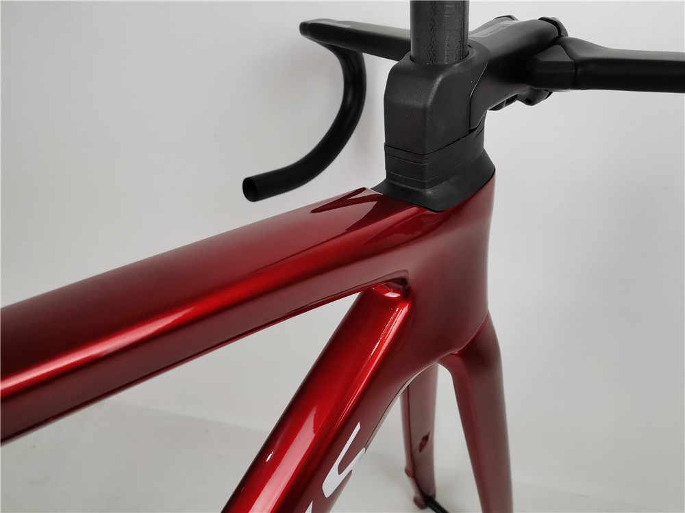 2020 karbon çerçeve yol disk frenler bisiklet thru aks 100*12 142*12mm 700C aero yol bisiklet frameset Di2 elektronik vites