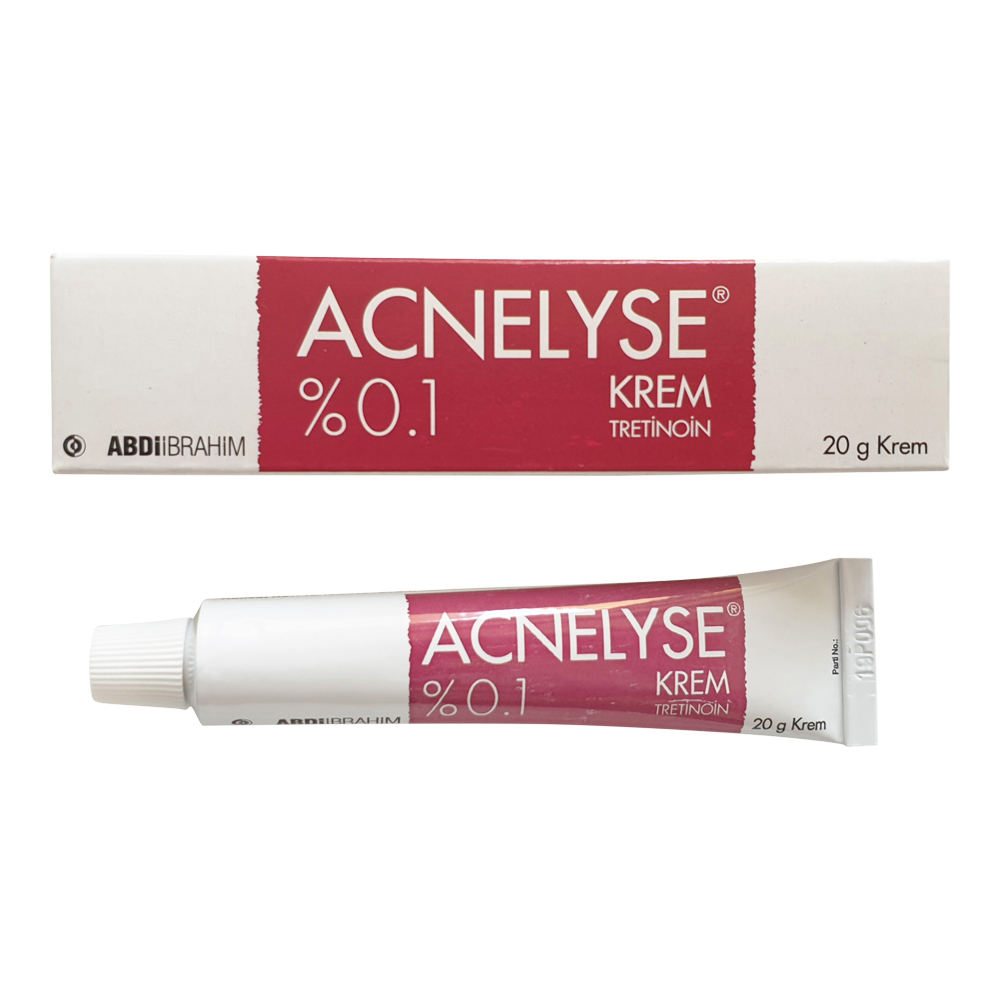 Acnelyse Cream Tretinoin 0.1%  20 GR – Effective In Acne Treatment, Fine Wrinkles And Face Damages Caused By The Sun Rays