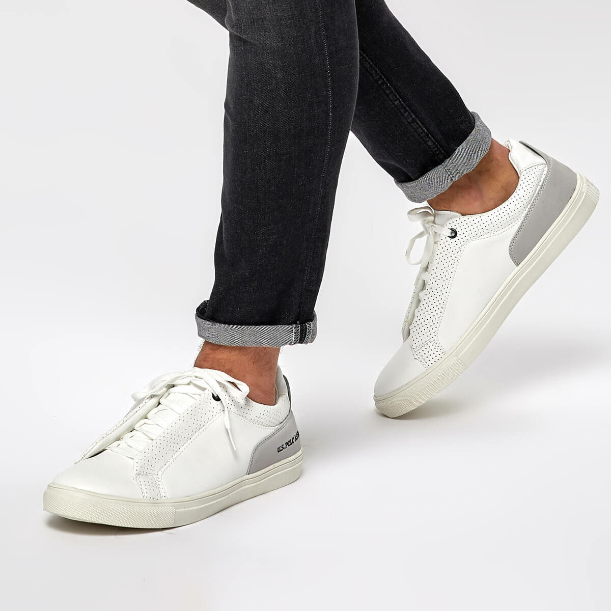 FLO SANTIAGO White Male Shoes U.S. POLO ASSN.