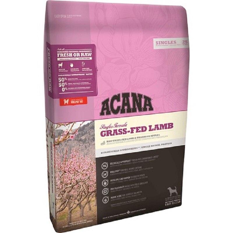 Acana Grass-Fed Lamb Dog Food 2 Kg Healthy Growth Feeding Pet Food