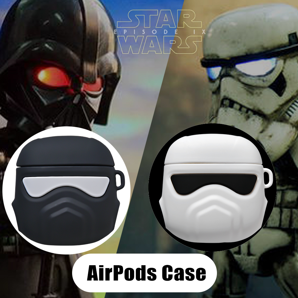 For Apple AirPods 1 2 Earphone Shockproof Case Star Wars Liquid Silicone Protective Sleeve Compatible Soft Case AirPods Case image