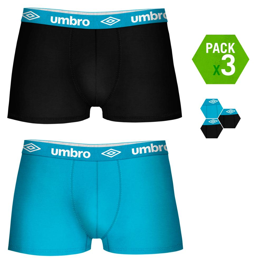 UMBRO Boxers Type Boxer Pack 3 Units In Color Black And Blue For Men