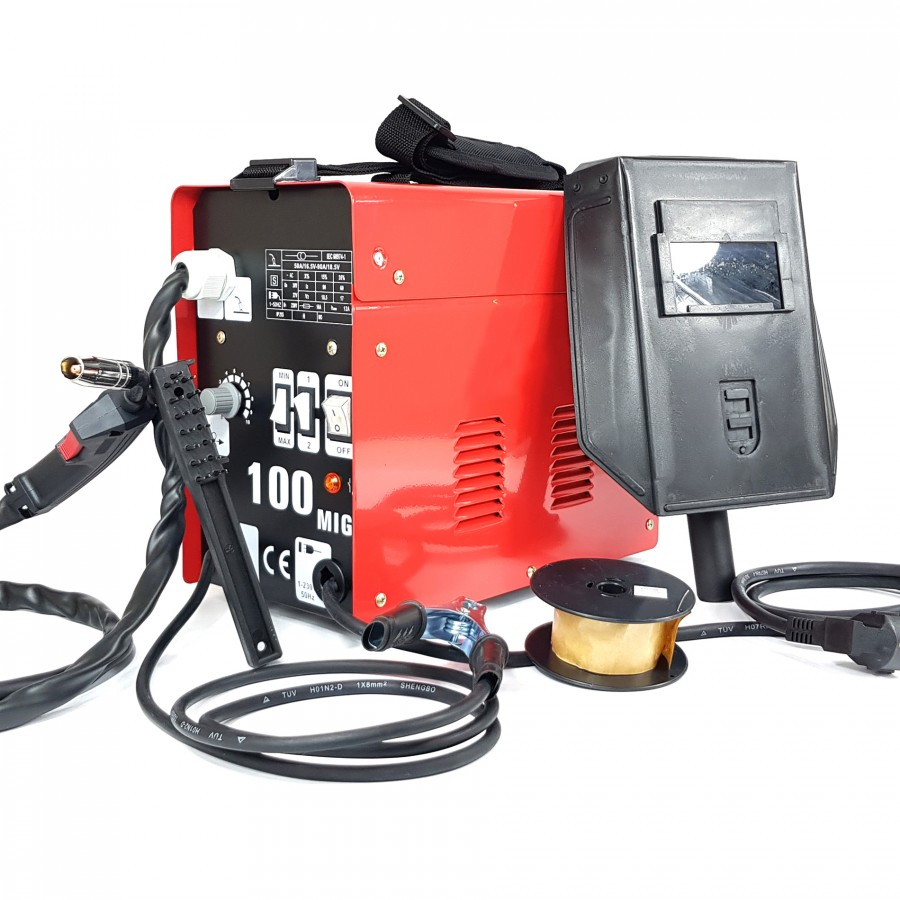 Welder TURBO MIG 100 A No GAS Thread With Items Accessories Group WELDING