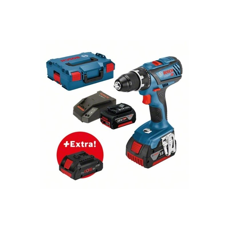 <font><b>Bosch</b></font> 0615990K7H professional Set drill + battery screwdriver GSR 18V-<font><b>28</b></font> + <font><b>2</b></font> batteries 5,0Ah + ProCORE18V 4,0Ah in Boxx image
