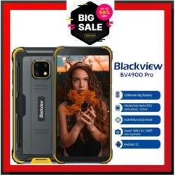 BV4900 Pro Мобильный телефон IP68 Прочный телефон 4 ГБ 64 ГБ Octa Core Android 10 Водонепроницаемый Blackview 5580 мАч NFC 5,7-дюймовый мобильный телефон 4G Официальные...
