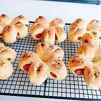 芝士香肠花朵面包的做法图解16