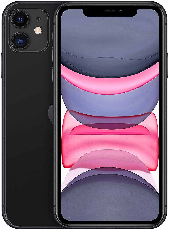 "Teléfono Apple iPhone 11, Color Negro (Black), 64 GB de Memoria Interna, 4 GB de RAM, Pantalla de 6,1"". Cámara Dual de"