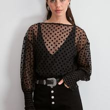 Trendyol горошек точечный детальный Tulles трикотажная блузка TWOAW20BZ1200