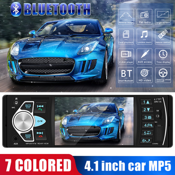4022D Car Stereo MP5 Player 4.1inch Bluetooth USB TF Card AUX Radio In Dash Receiver Supporting Reversing Image and Video Output image