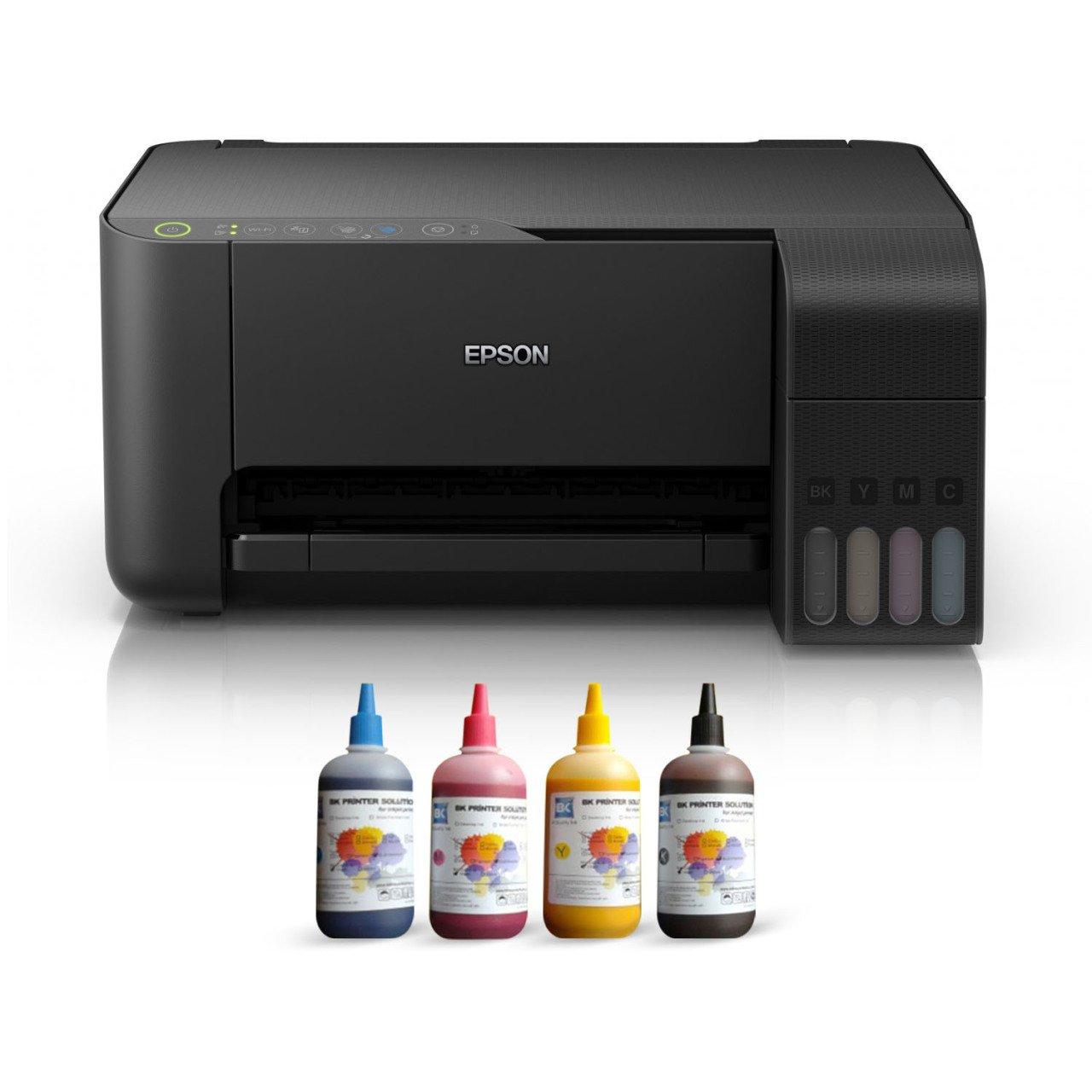 Epson TANK ITS L3150 Sublimation Ink Printer 4 Color Ending Catridges