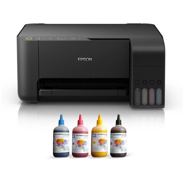 $ US $224.46 Epson TANK ITS L3150 Sublimation Ink Printer 4 Color Ending Catridges