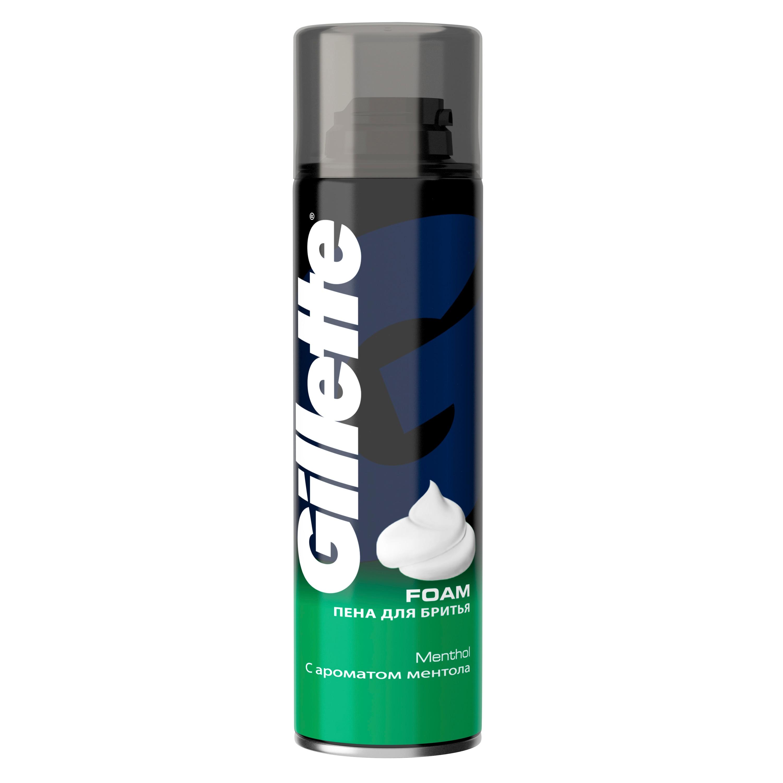 Shaving foam Gillette Menthol 200 ml.