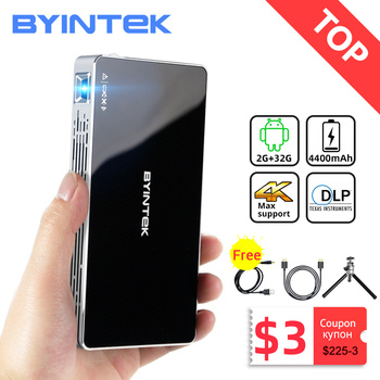 BYINTEK P10 Smart Android Wifi Mini Pocket Pico Portable Beamer TV LED DLP Mobile 1080P Projector For Smartphone 4K Cinema 1