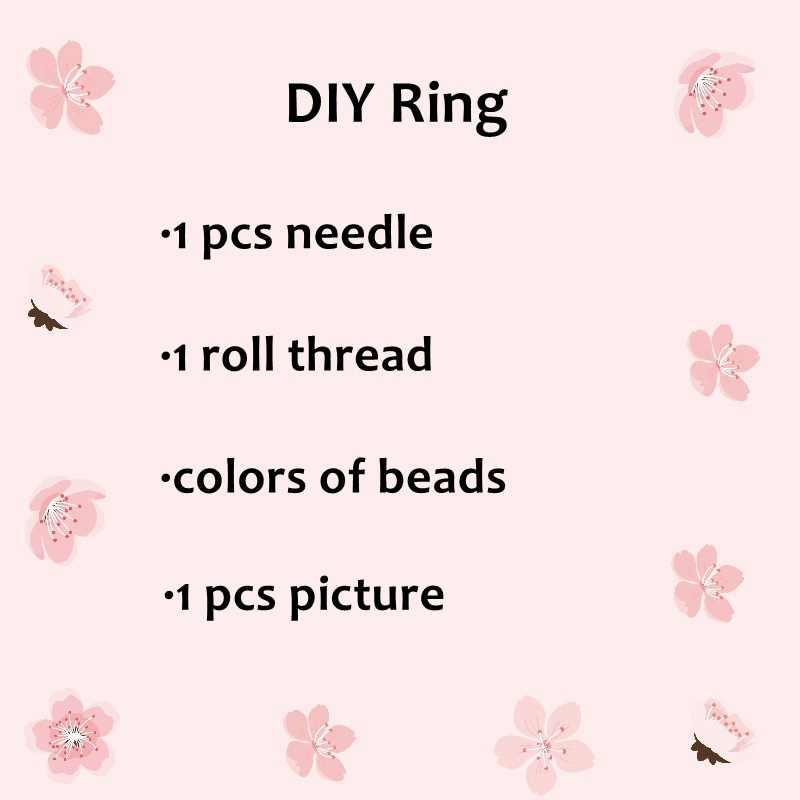 FAIRYWOO גדול טבעות חדש עין רעה טבעת מיוקי חרוזים תכשיטי מכירה לוהטת Diy אביזרי טבעת ערכת לנשים ידידות סיטונאי