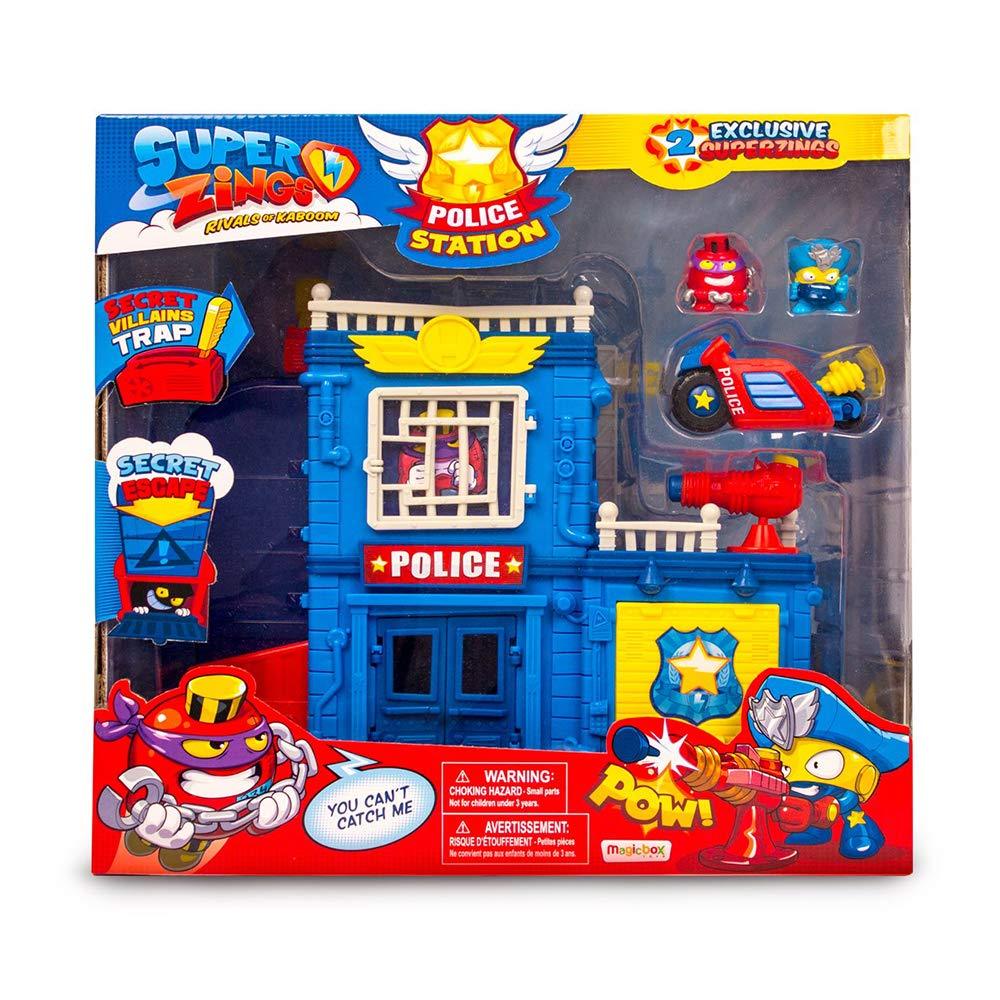 Special Superzings Police Station With 2 Exclusive Figures SuperZings
