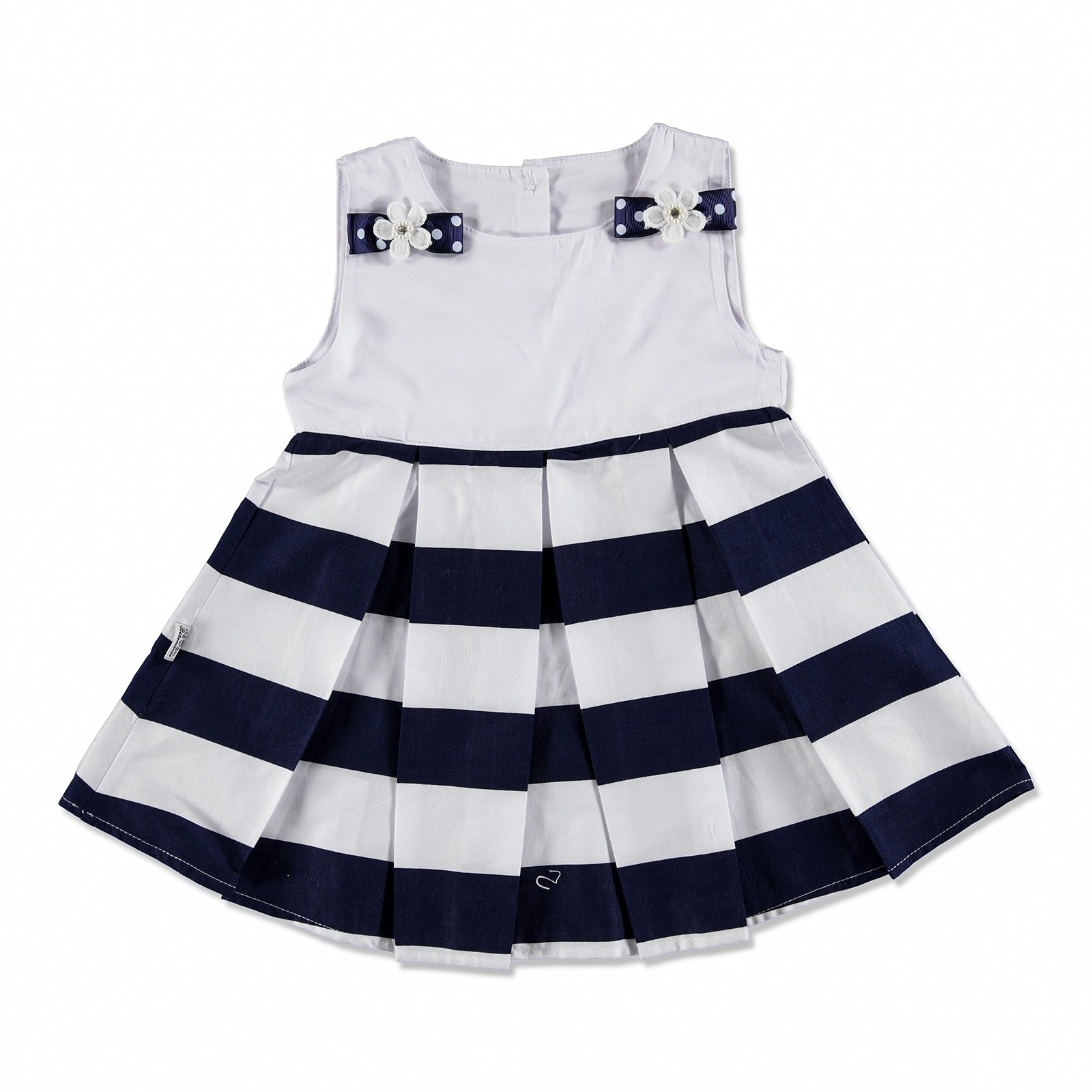Ebebek Bebemania Summer Baby Girl Chic Blue Dress