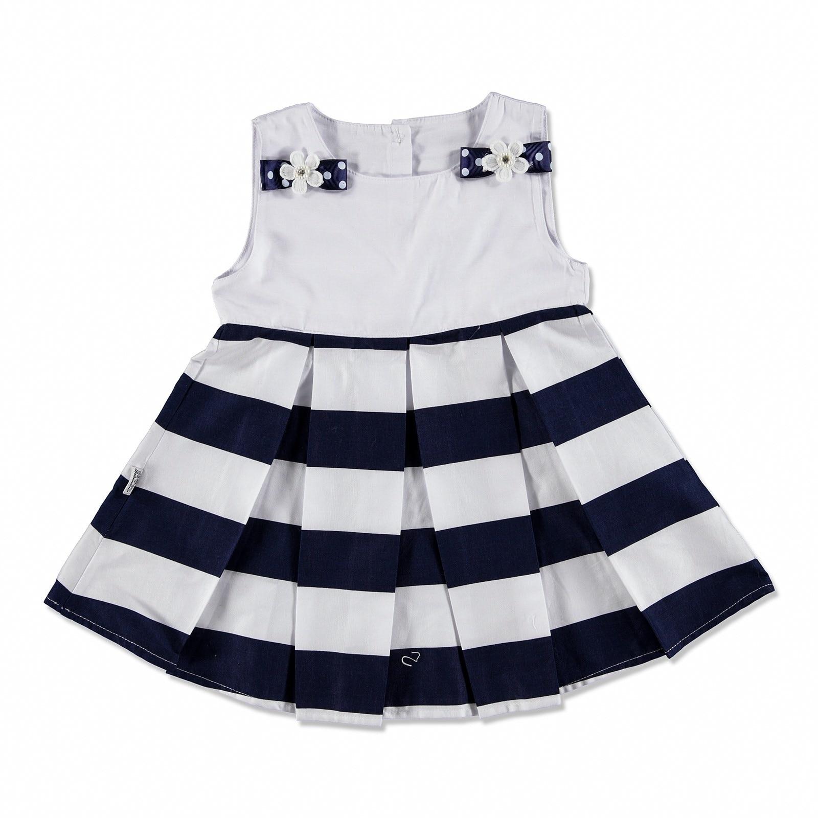 Ebebek Bebemania Summer Baby Girl Chic Blue Dress