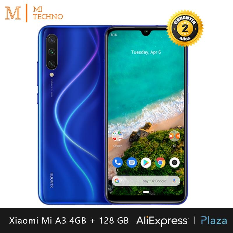 Xiao mi mi A3 Smartphone (4 rígido GB de RAM, 128 GB ROM rígido, telefone móvel, livre, novo, barato, bateria 4030 mAh, Um Android) [Global] Versão