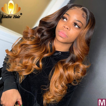 Aliafee Loose Wave Wig Malaysia Remy Hair 13x4 Blonde Lace Front Human Hair Wigs 150% Density With Baby Hair For Black Women