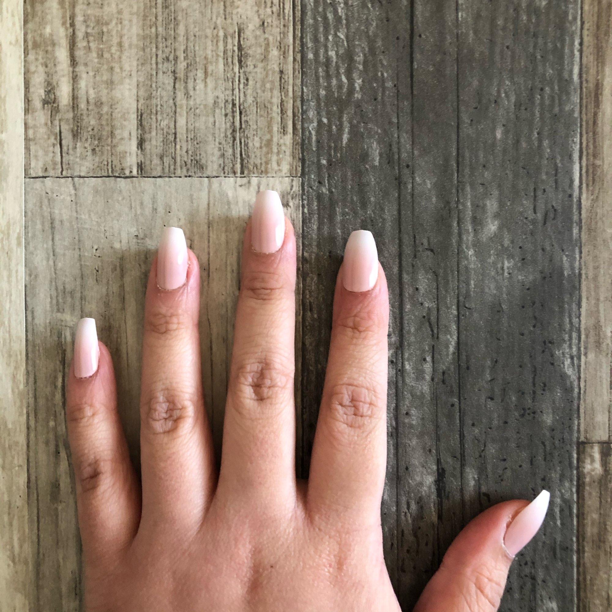 Ombre French Ballerina Fake Nail Gradeint Natural Coffin False Nails Wholesale Nails Supplier 24 photo review