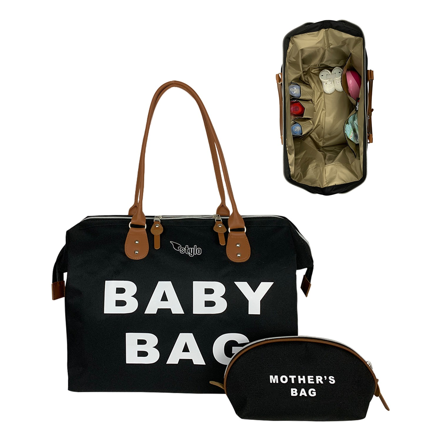 2021 Baby Tote Bag Set For Mothers 2 PCs Nappy Maternity Diaper Mommy Bag Storage Organizer Changing Carriage Babycare Backpack
