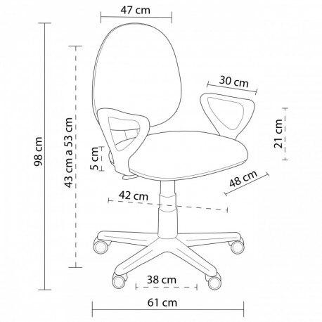 Desk Chair Swivel Danfer In Two Colors.