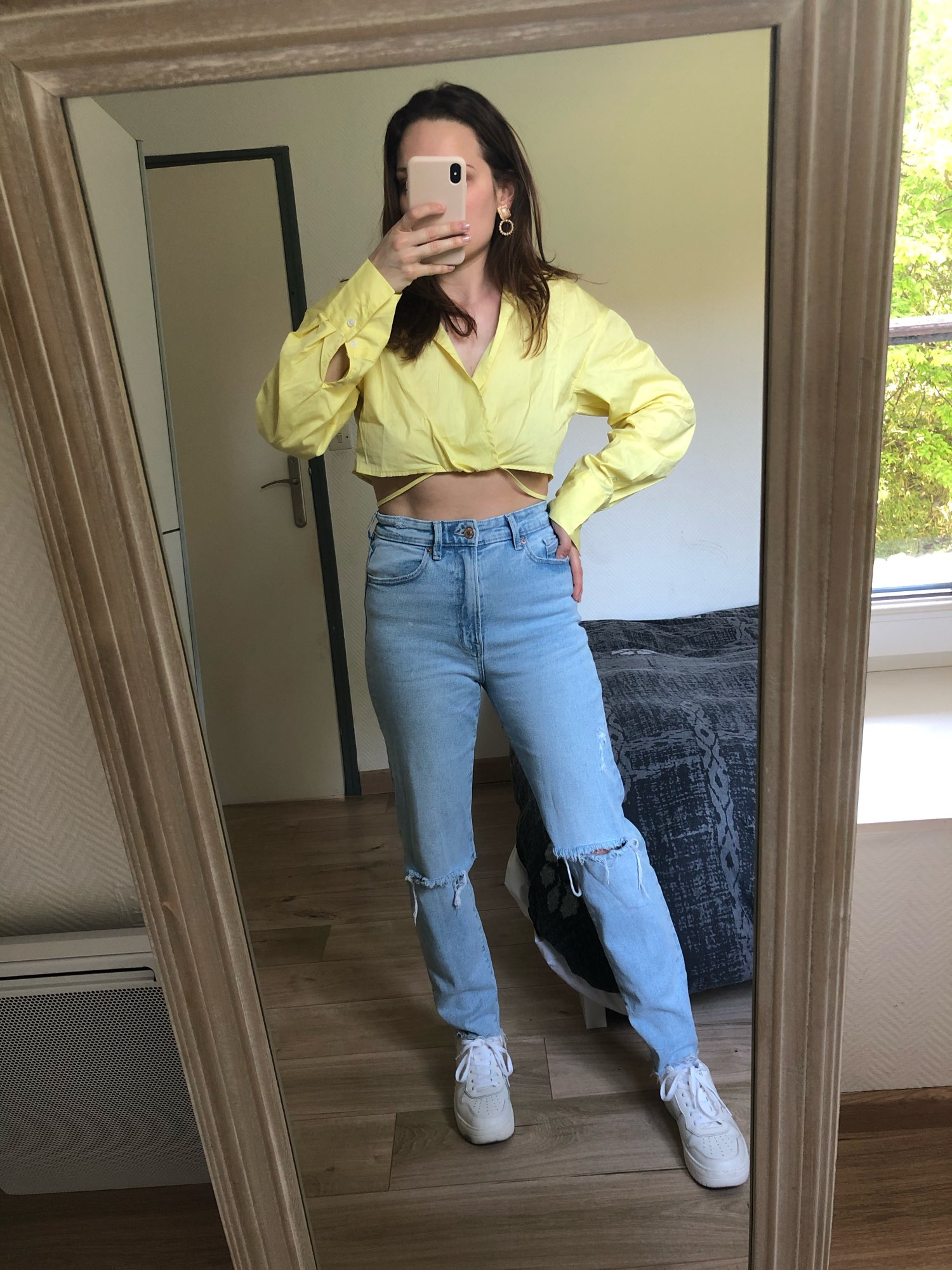 Long Sleeves Casual Fashion Chic Lady High Fashion Woman Blouse photo review