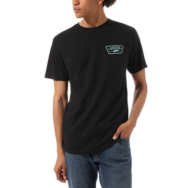 Men's Short Sleeve T-Shirt <font><b>Vans</b></font> Full <font><b>Patch</b></font> Black image