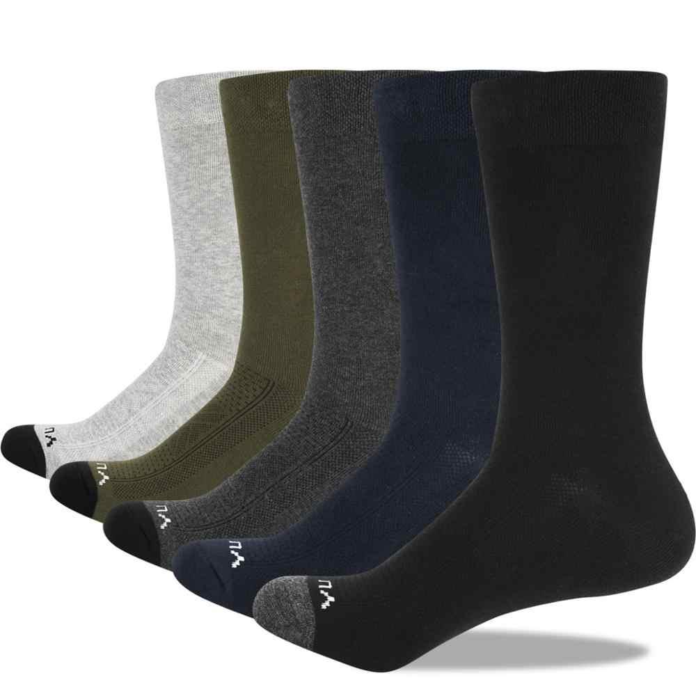 YUEDGE Männer Socken Atmungsaktiv Komfortable Gekämmte Baumwolle Crew Casual Business Kleid Socken Sommer Dünne Socken 5 Pairs 38-47 EU