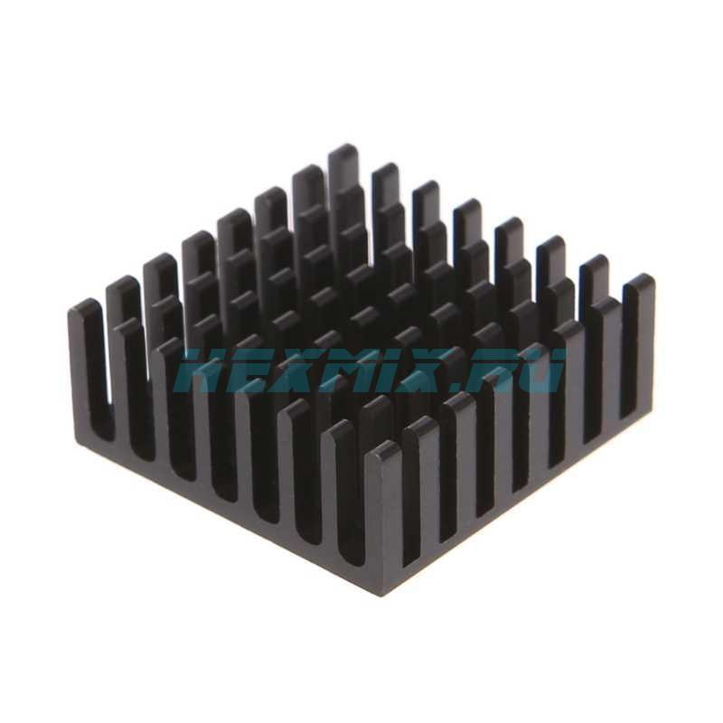 Radiator Aluminum 25x25x10mm Black