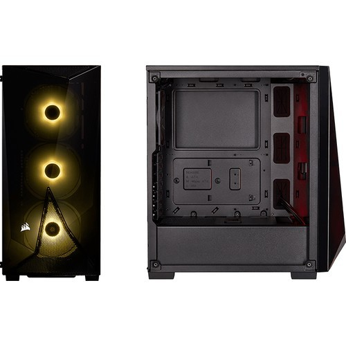 Corsair CC-9020121-EU SPEC-DELTA RGB Tempered Glass MidTower ATX Player Computer case + VS550 Power Supply 3