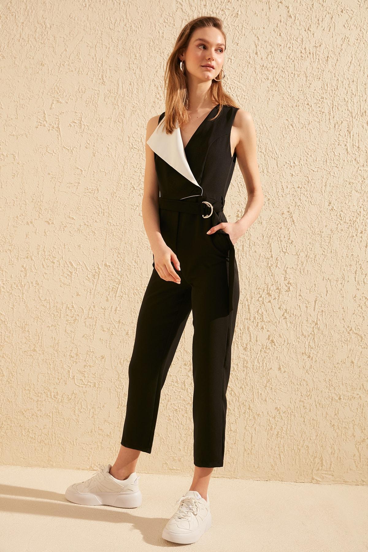 Trendyol Arched Jumpsuit TWOSS20TU0019