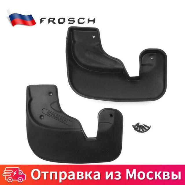 2 шт.  передние Брызговики для автомобиля защитный щиток от брызг For RENAULT Sandero Stepway 2010 2011 2012 2013 2014