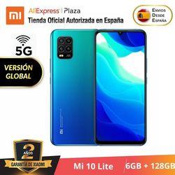 Xiaomi Mi 10 Lite 5G (128GB ROM con 6GB RAM Android Nuevo Móvil) [Teléfono Móvil Versión Global para España] mi10lite