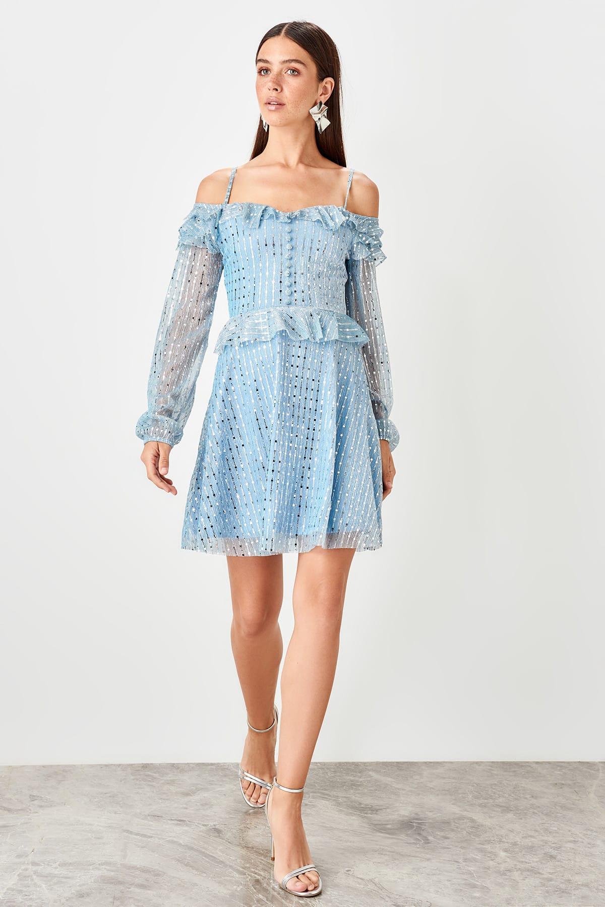 Trendyol Shoulder Detail Dress TPRSS19EL0423