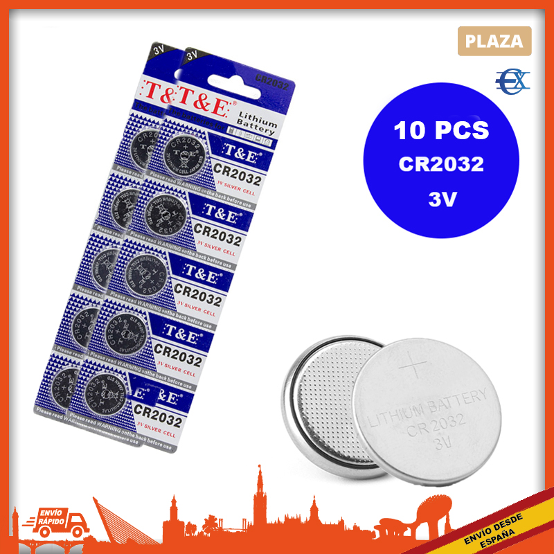 EUROXANTY®| CR2032 батареи | Кнопка CR 2032 батареи | Часы батареи | Батарея 2032 | Кнопочный элемент | Батарея CR2032 3V | Часы батареи