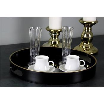 Acar фарфоровая 2li черная подставка для кофейной чашки