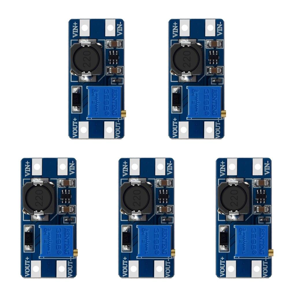 MT3608 усилитель конвертера, усилитель конвертера, модуль питания, повышенная плата, макс. выход 28 в, 2 А для arduino
