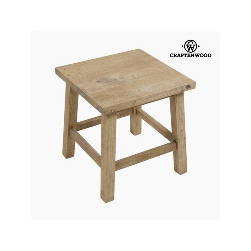 Side Table Rubber Wood Square-Lifelike Collection By Craftenwood