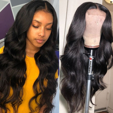 6x6 Lace Closure Wig Middle Part Body Wave Hd Transparent 4x